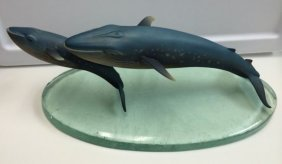 Rare Lorenz Hutschenreuther Blue Whales On Water