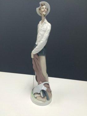 Lladro Don Quixote Glossy Collectible Figurine In Mint