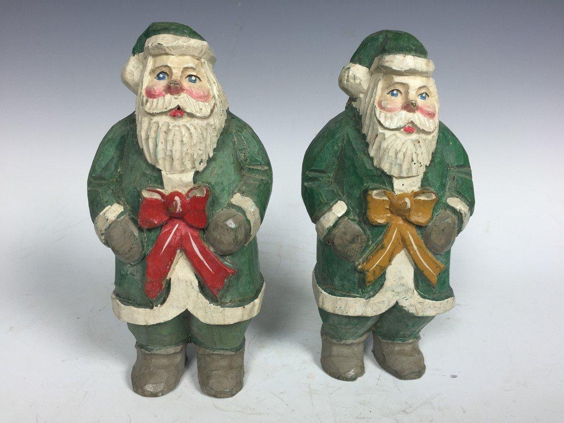 Pair of Painted Santa Claus
