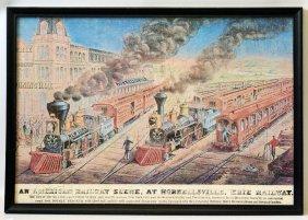 1880's Hornellsville Erie Railway Advertising Railroad
