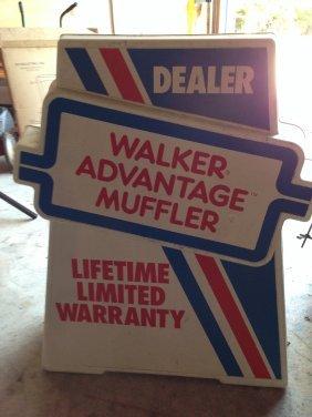 Original Vintage Walker Advantage Muffler Large 2-sided
