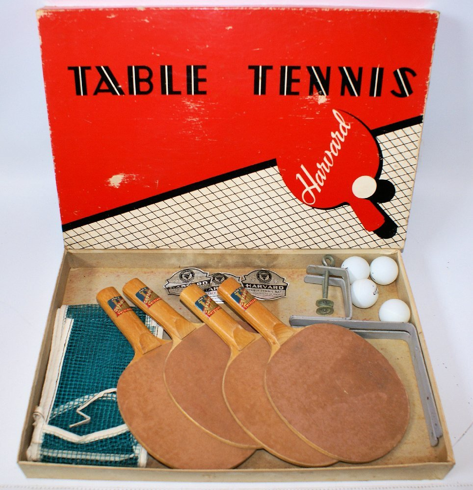 Vintage 1960's HARVARD TABLE TENNIS GAME SET in