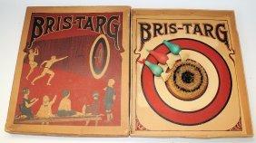 Rare Unique Vintage 1913 Bris-targ Cardboard Target