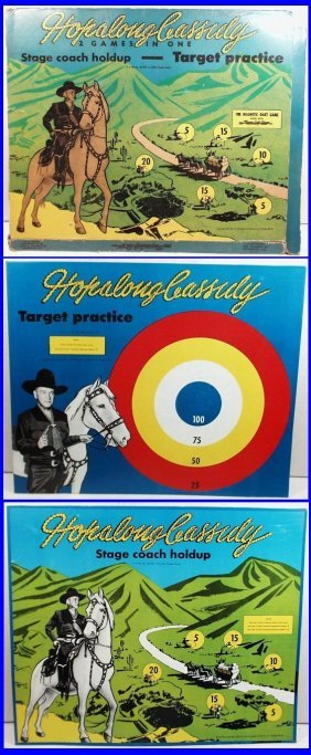 1950 Hopalong Cassidy Target Practice & Stage Coach