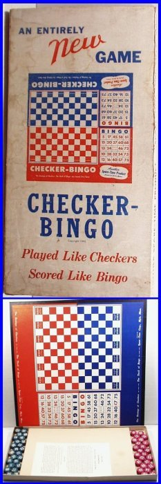Rare Vintage 1943 Checker-bingo Game, Hard To Find