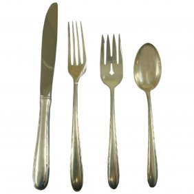 Silver Flutes By Towle Sterling Silver Flatware Set