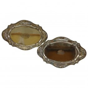 Martele By Gorham .950 Sterling Silver Pair Footed