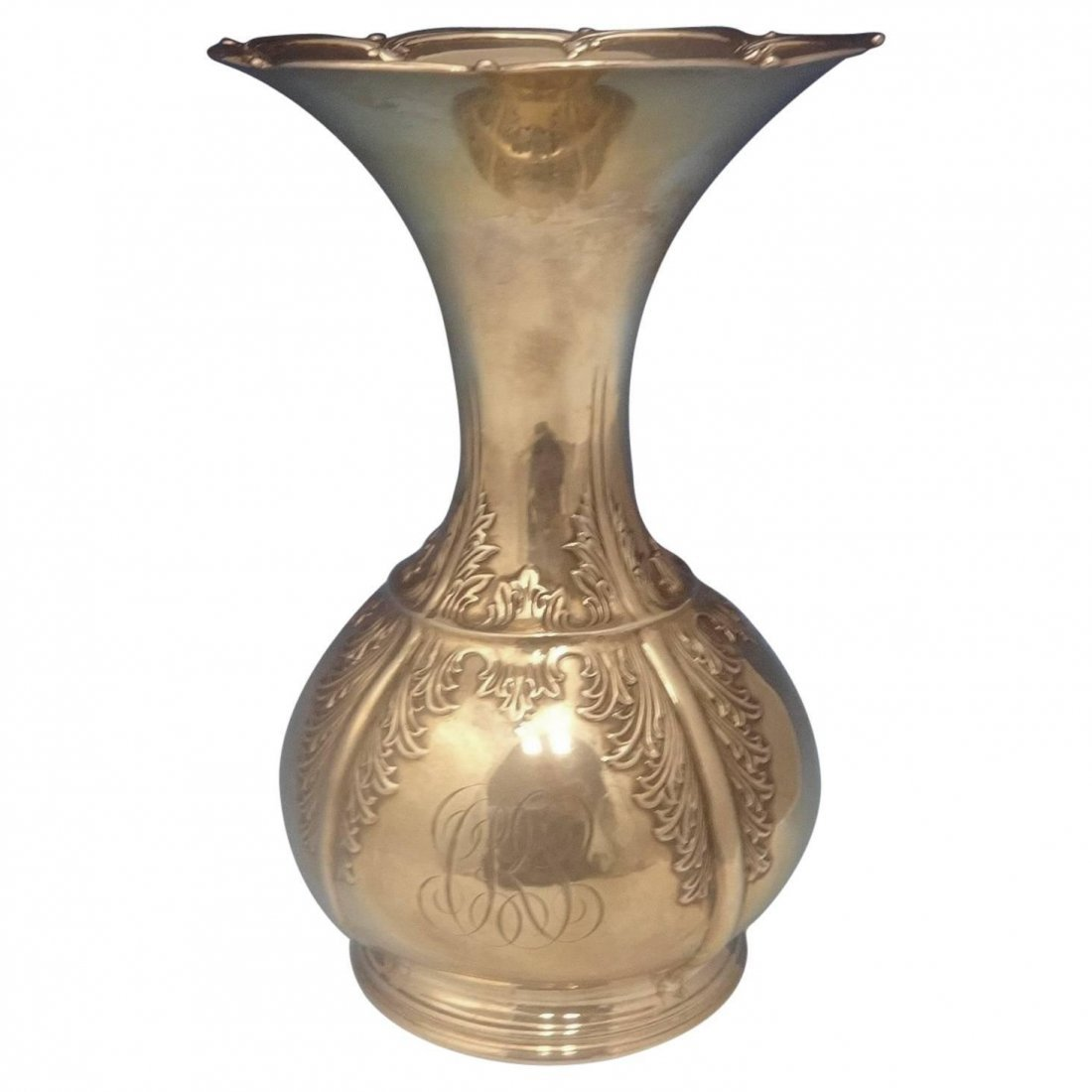 Chrysanthemum by Tiffany & Co. Sterling Silver Vase