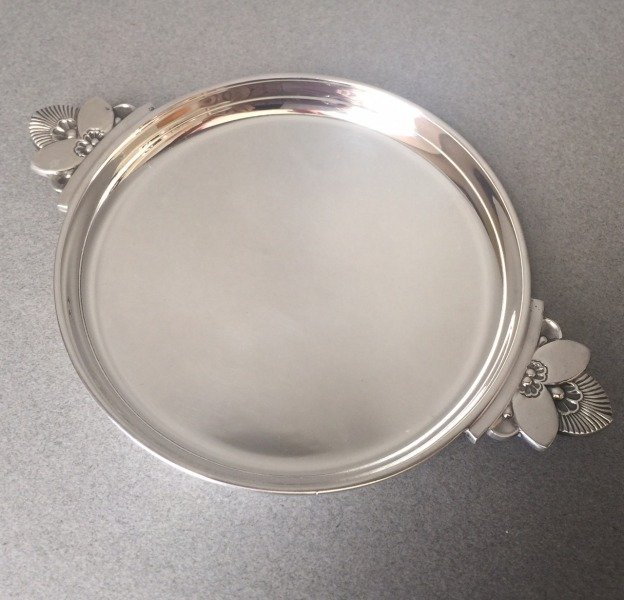 """Georg Jensen Sterling Silver Small """"Cactus"""" Tray No."""