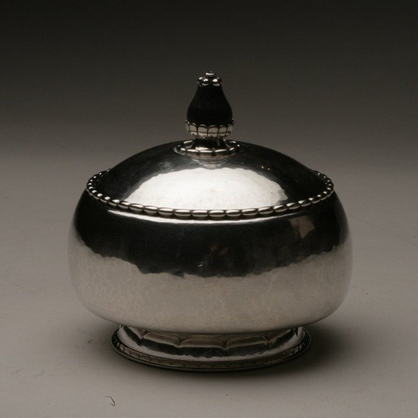 Georg Jensen 830 Silver Tea Caddy No. 36