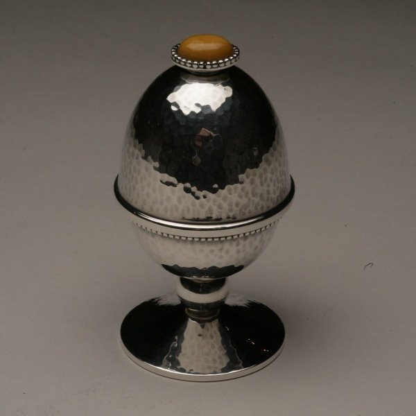 Covered Sterling Silver Boiled Egg Cup by Holmsted