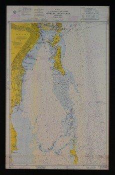 Rare Antique Nautical Chart Map Florida