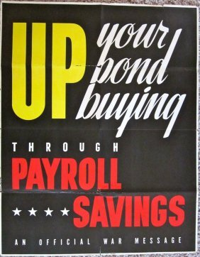Original Wwii Poster - Up Your Bond Buying Through