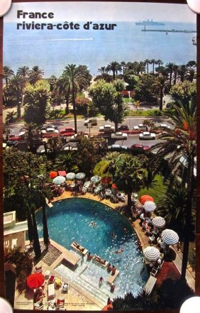 France Riviera Cote D'azur - Original 1960's French