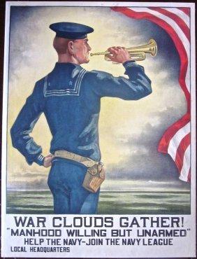 War Clouds Gather! 1917 Wwi Lb Poster- Hazel Roberts