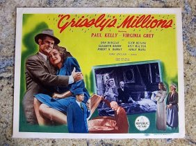 Grissly's Millions '45 Title Card + 5 Lobby Cards ~