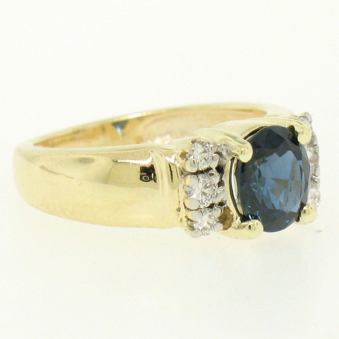 Dankner 14k Yellow Gold 1.21ctw Oval Sapphire Solitaire