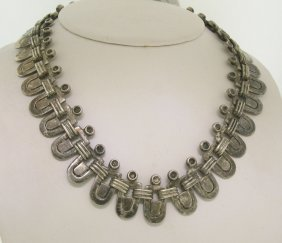 Vintage Hector Aguilar .940 Silver Hand Crafted Choker