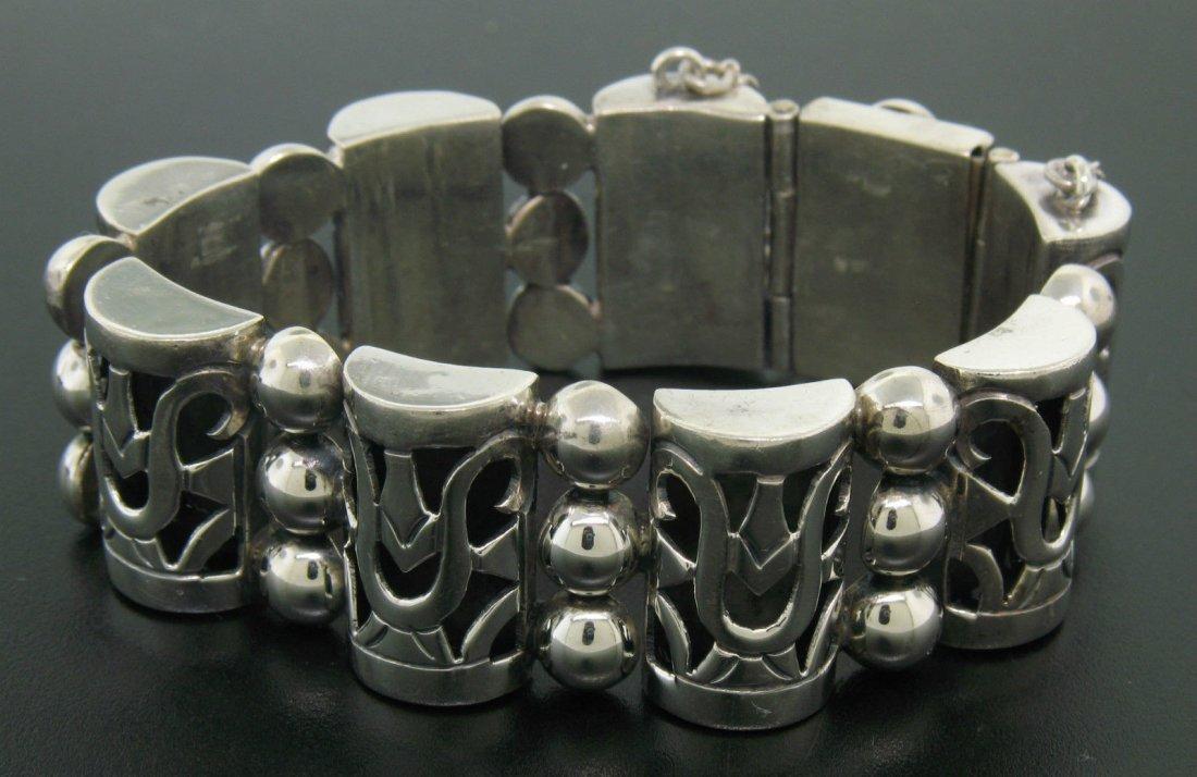 Vintage TAXCO .980 Silver Large Bracelet by MARGARITA