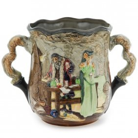 """Royal Doulton Loving Cup Apothecary Loving Cup, H. 6"""","""