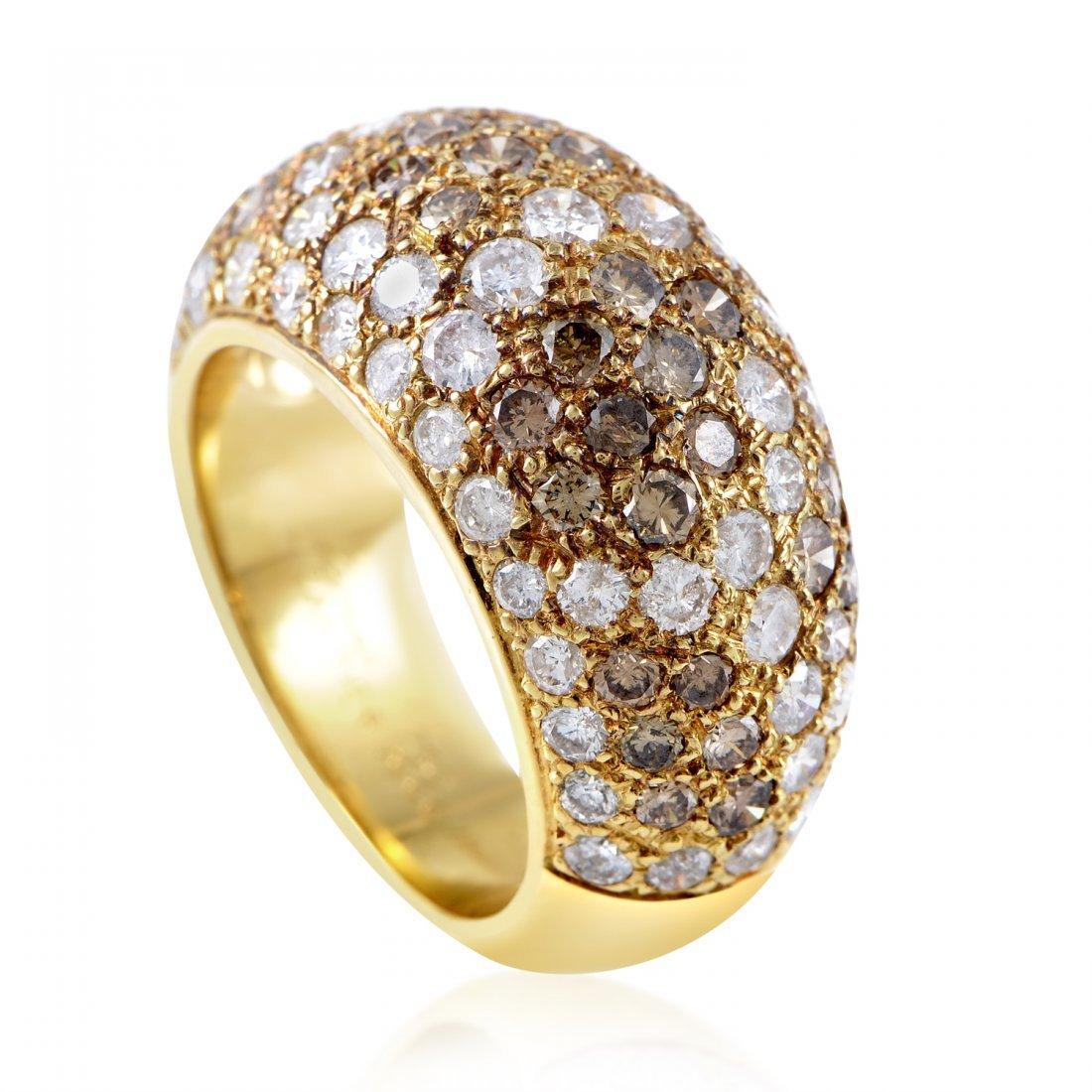 Cartier 18K Yellow Gold Multi-Diamond Ring