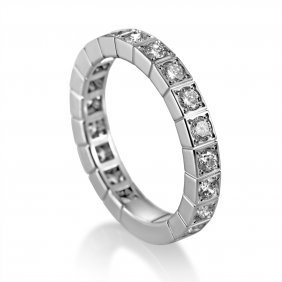 Cartier Lanieres 18k White Gold Diamond Ring Ak1b2902