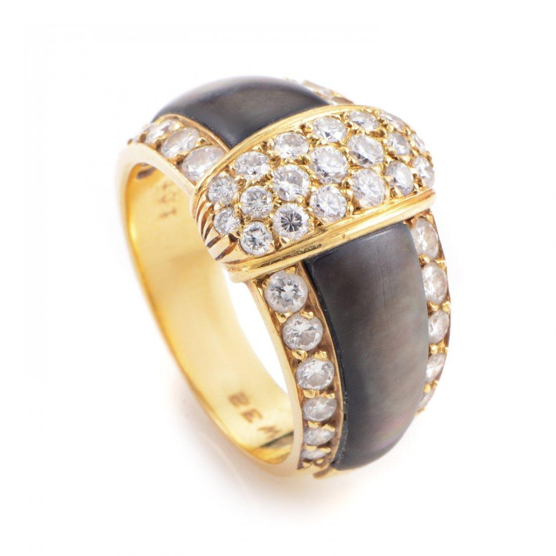 Van Cleef & Arpels 18K Yellow Gold Diamond & Black