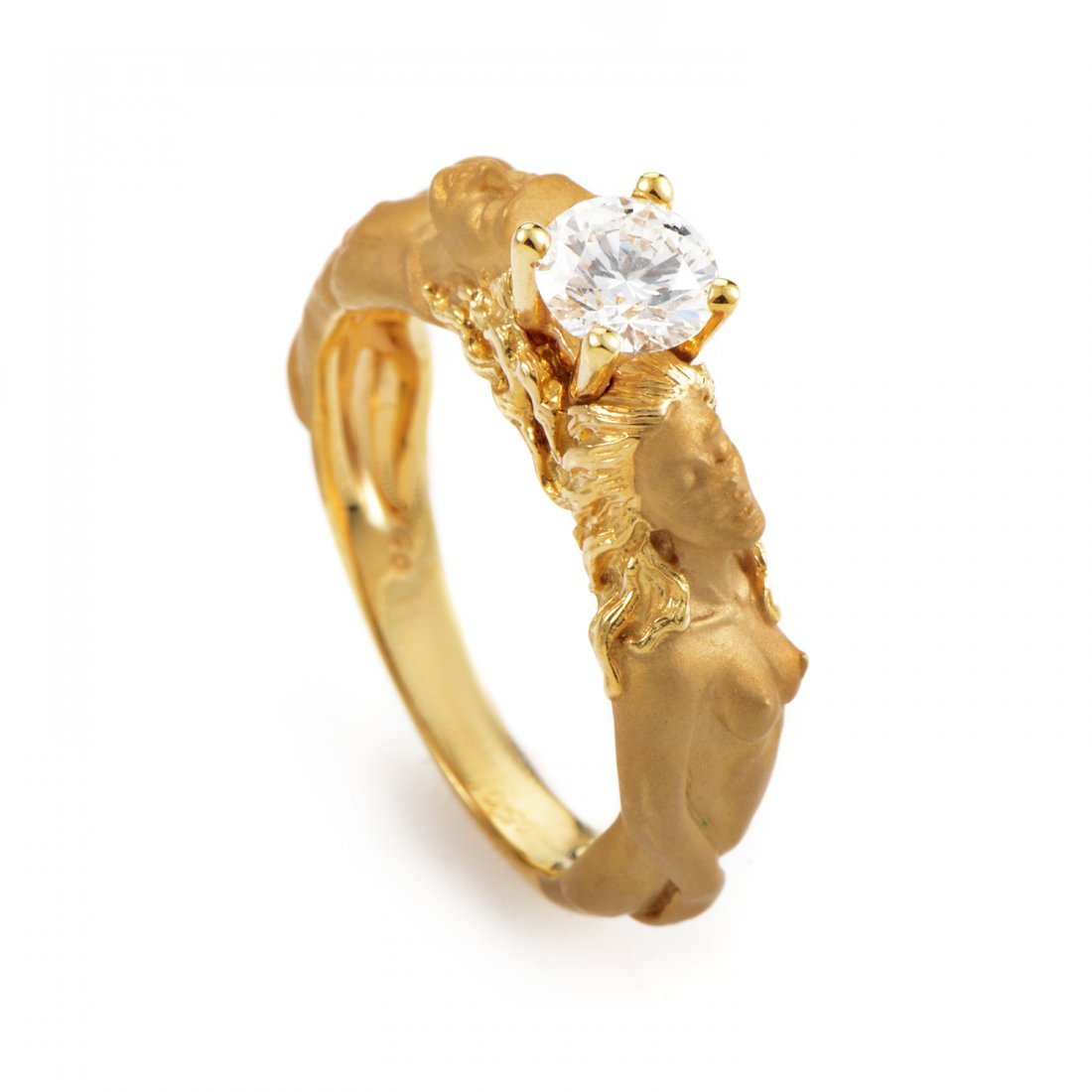 Carrera y Carrera 18K Yellow Gold Diamond Engagement