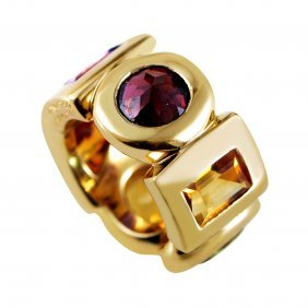 Chanel 18k Yellow Gold Large Multi-stone Ring