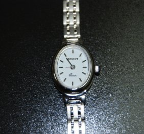 18 Karat White Gold Geneve Italian Women's Watch