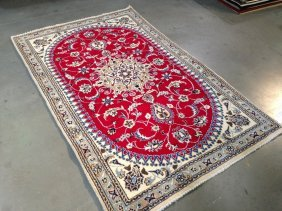 """5x7 Gorgeous Hand Knotted Persian """"nain"""" Wool And"""