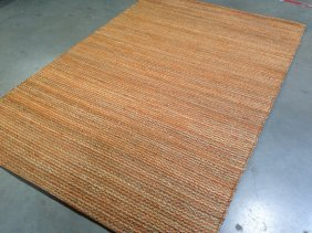5x8 100% Wool Sisal Mutted Color Hand-made Area Rug