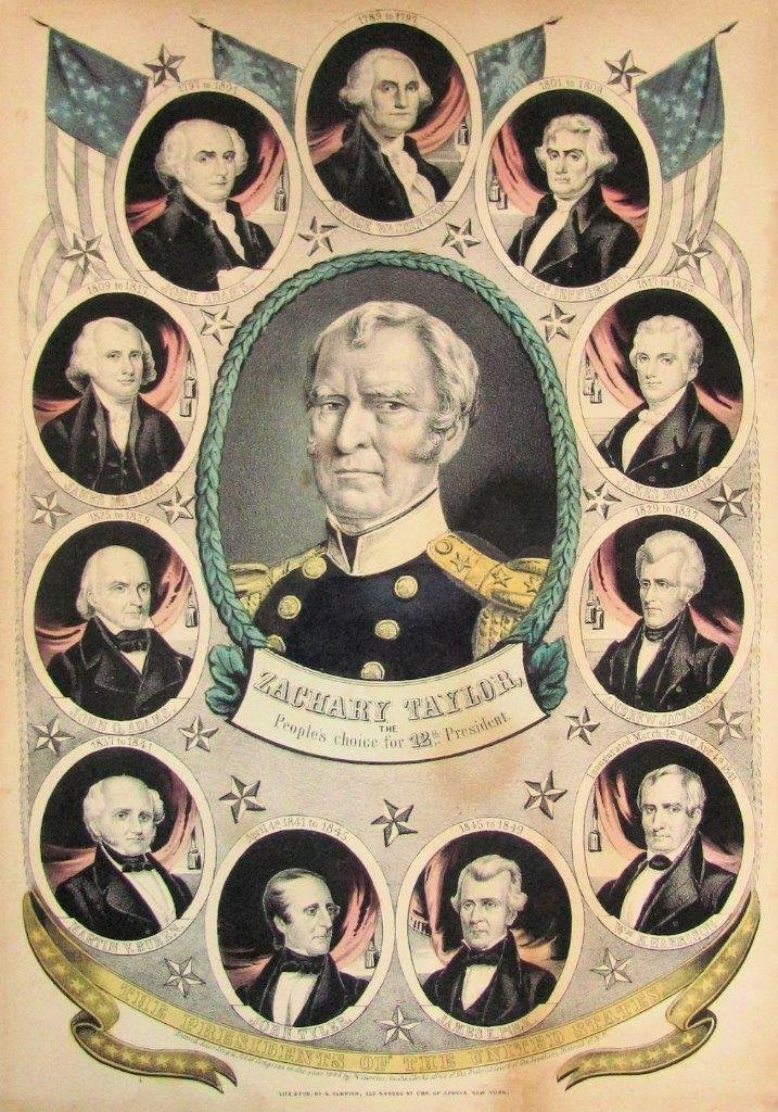 1848 Zachary Taylor Presidential Election Litho