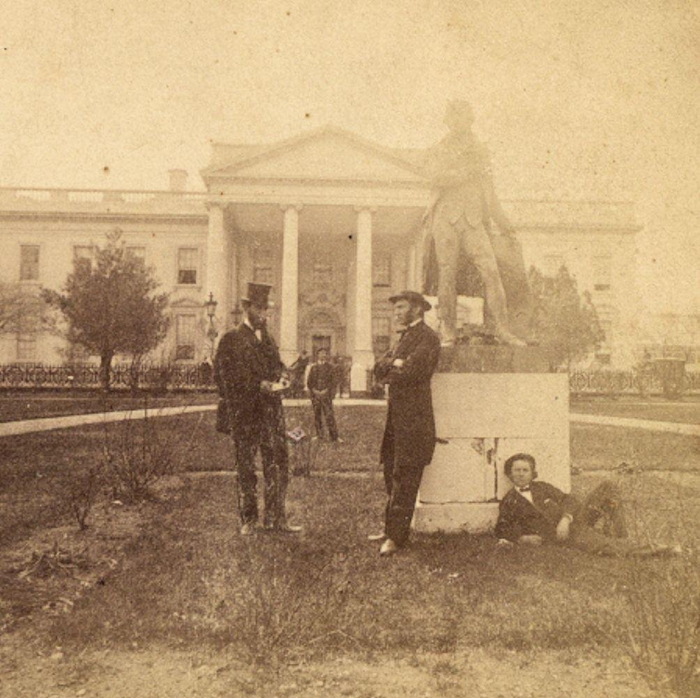 c.1869 White House, Abraham Lincoln Look-A-Like