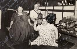 1944 RPPC Circus Freak Obese Sideshow People