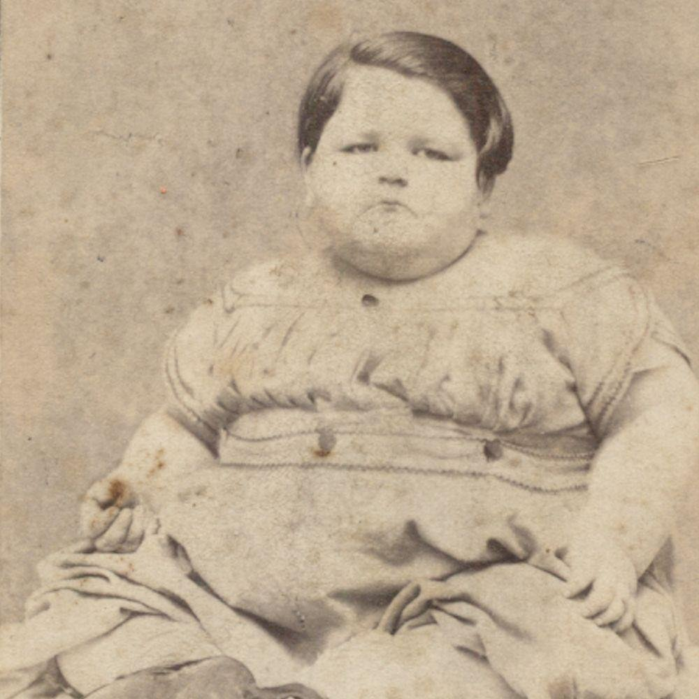 c.1865 Circus Sideshow Freak Samuel M Bishop Mammoth