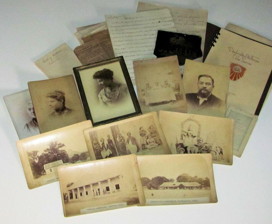 c.1890 Arcot Christian Mission Archive India, M Brokaw