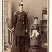 c.1880 Circus Sideshow Freak Tall Man Landon Middlecoff