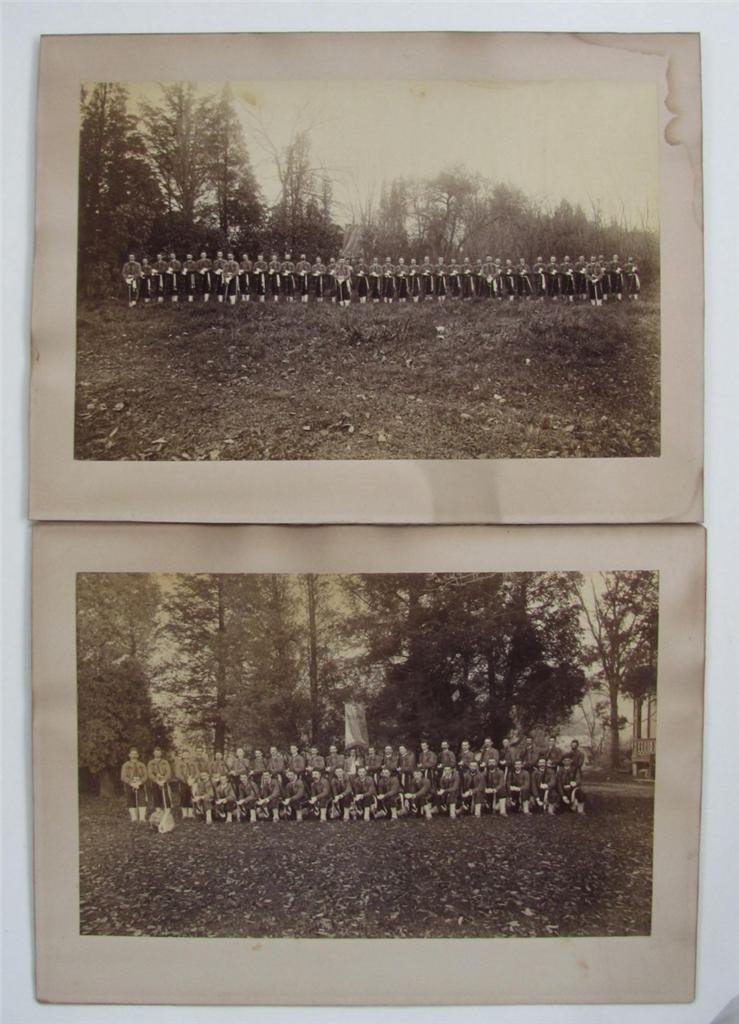 1888 Photos, Ny Zouave Soldier S For Harrison, Lot of 2