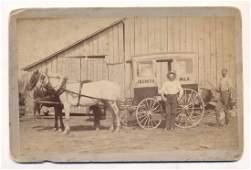 c.1880 J. W. Smith Horse Drawn Milk Wagon