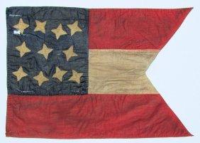 Confederate Guidon Flag, C Last Half 19th Cent