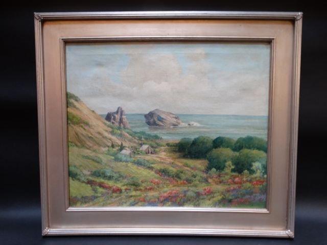 """Carl Eugen NeuHaus """"Green Hills and a Home"""""""