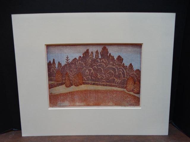 Anders Aldrin: Block Print, Forest & Field, Version
