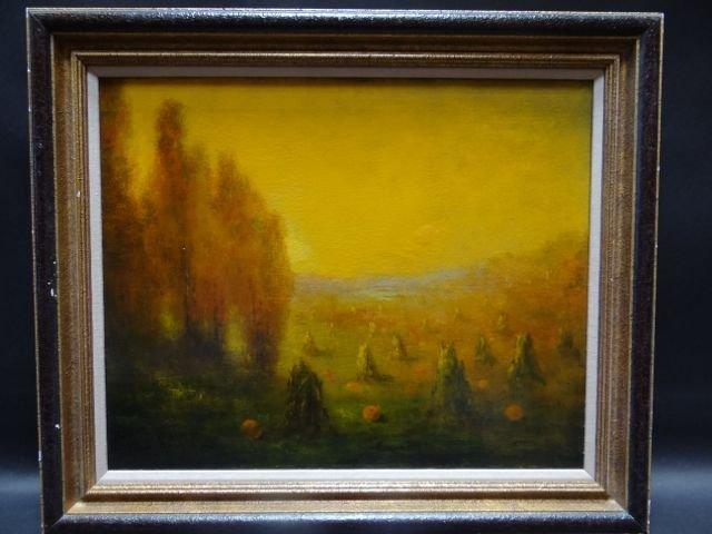 Harvest Landscape – oil on canvas