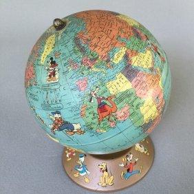 1950s Walt Disney Rand Mcnally Globe