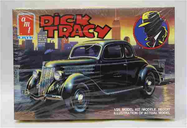 Vintage 1990 AMT ERTL 1:25 DICK TRACY 1936 Ford Coupe