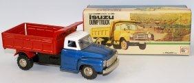 Vintage Asahi Atc Japan Tin Friction Isuzu Dump Truck