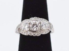 Antique Ladies.900 Platinum & Diamond Ring