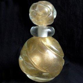 Murano Gold Flecks Large Perfume Bottle