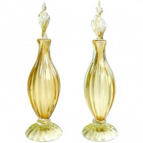 Barbini Murano Sommerso Yellow Gold Flecks Perfume